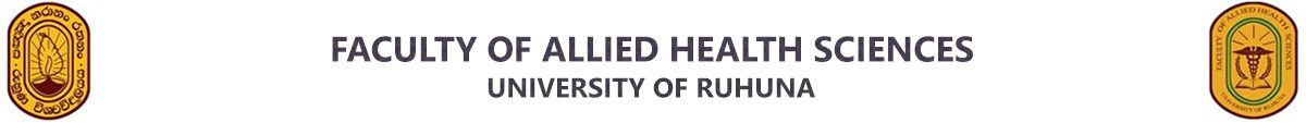 Faculty of Allied Health Sciences